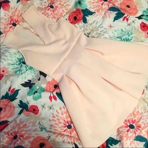 Charlotte Russe Dresses & Skirts - M Baby Pink Scuba Pleated Dress