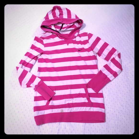 90 off nike tops nike pink on pink stripe hoodie pullover from kristi 39 s closet on poshmark. Black Bedroom Furniture Sets. Home Design Ideas