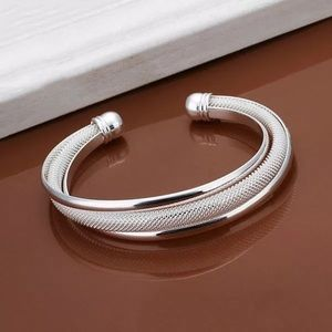 Jewelry - Triple cuff 925 Sterling silver bracelet