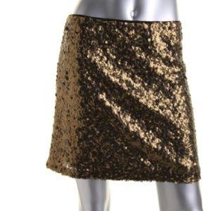 Alberto Makali Dresses & Skirts - Alberto Makali Gold Mesh Sequined Mini Skirt