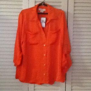 NWT Michael Michael Kors blouse in poppy