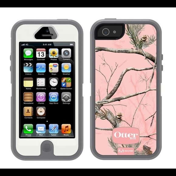 new styles 4d1bb def5b Otterbox Defender iphone 5 5s Realtree Camo pink