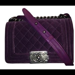 100% Authentic Purple Chanel Boy Bag