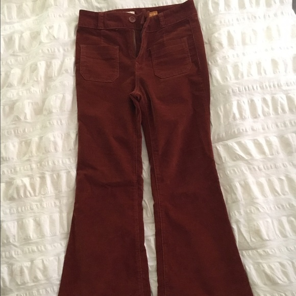 ANTHROPOLOGIE CORDUROY BELL BOTTOM PANTS!