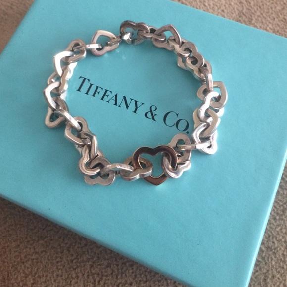 307b0b08ff2 Tiffany & Co. Jewelry | Tiffany Co Open Heart Link Bracelet | Poshmark
