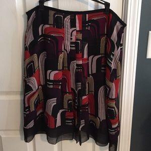 Lovely a-line chiffon skirt