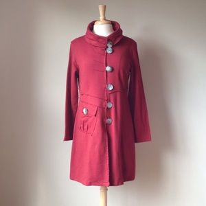 The cutest Maroon coat EVER!!