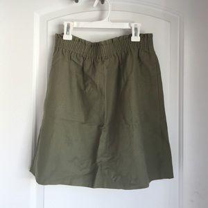 J.Crew factory linen city skirt