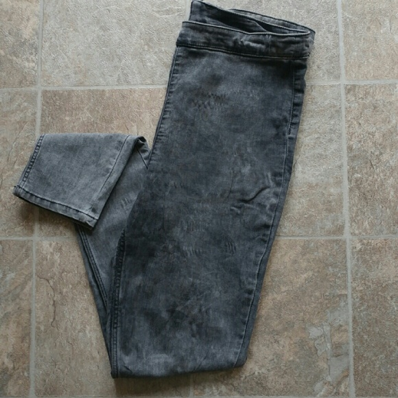 987f56825d8ca H&M Jeans | H M Divided Faded Black Jeggings | Poshmark