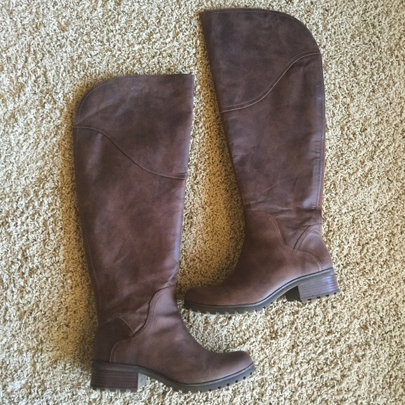 25d5610df4df Lucky Brand Shoes - Lucky Brand Wide Calf Leather Riding Boots