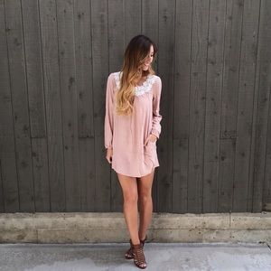 | new | blush embellished dress