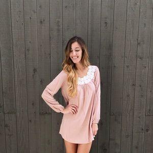 LAST ITEM blush embellished dress