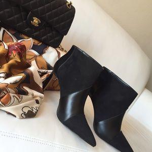 Zara combined black ankle booties