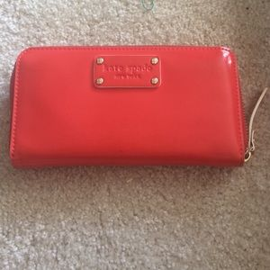 Kate spade patent wallet. Red.