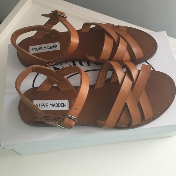 ce577233f5cdb Steve Madden Sweeti Cognac sandal