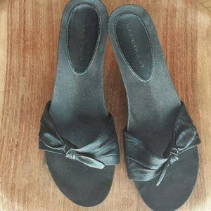 Bandolino Shoes - Bandolino 'Thrille' Black Wedge Sandals
