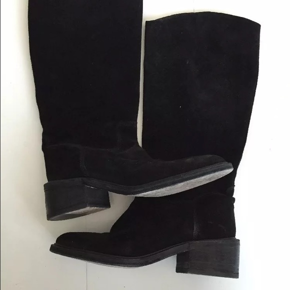 72 bcbg shoes black suede boots from s