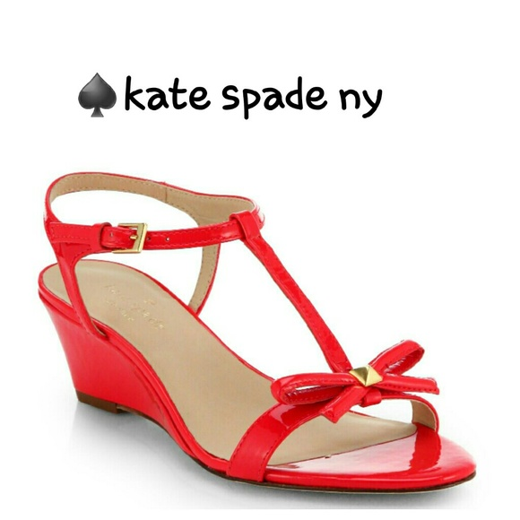 9f89863a8fa0 Kate Spade Donna wedge t-strap sandals 5.5 NWOB