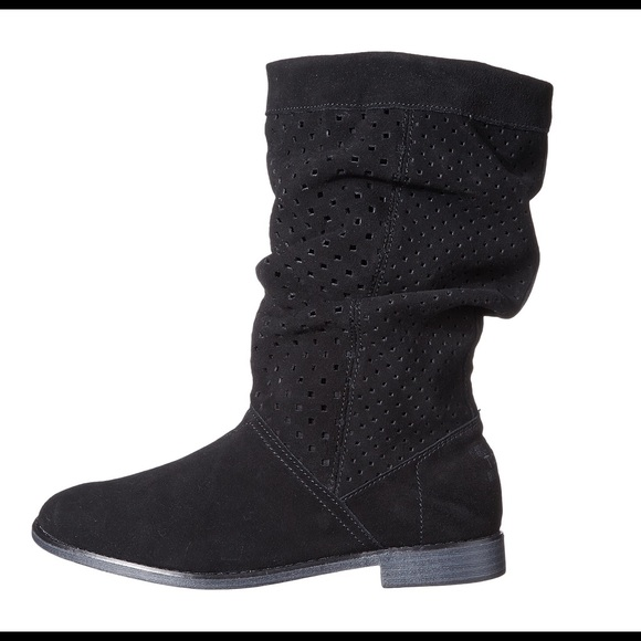 Black Toms Suede Serra Boots   Poshmark