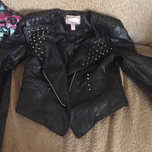 Cropped leather jacket from forever 21