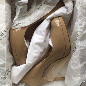 LK Bennett Sledge patent heels size 37