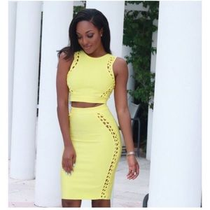 WOW couture Dresses & Skirts - Yellow 2pc set