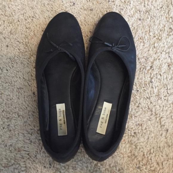 6e91ad2d3 Rag & Bone Windsor Leather Ballet Flat 38.5 8
