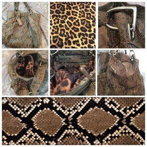 B. Makowsky Snakeskin Leather Work or Handbag