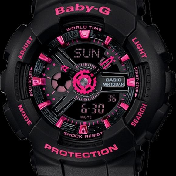 7a336a6d02 Casio Baby G black + pink watch