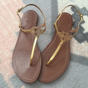 Tory Burch Shoes - Gold Tory Burch Sandals