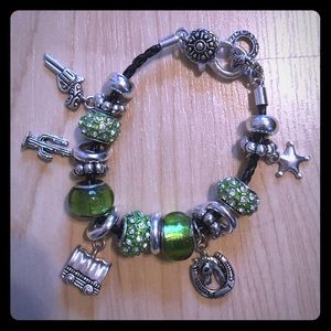 Jewelry - Western themed, sterling silver charm bracelet!