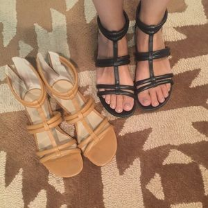 Two Pairs JCrew Gladiators