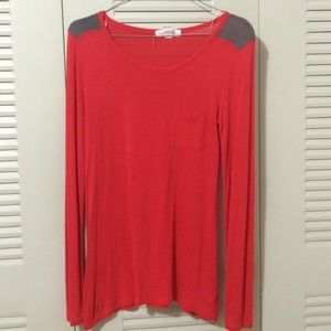 Forever21 Red Long sleeve blouse shirt top