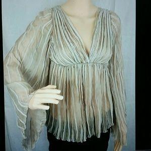 Philosophy di Alberta Ferretti Tops - Alberta Ferretti drapey blouse top US size 2.