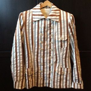 Dries Van Noten Jackets & Blazers - Dries Van Noten Silk Stripe Bazer