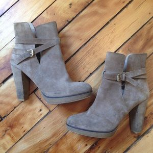 Zara Collection by Basio Suede Buckle Booties