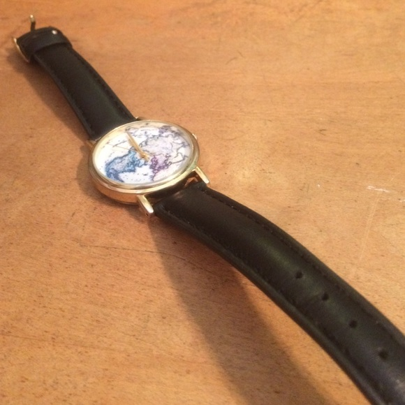 Urban Outfitters Accessories Uo World Map Watch Poshmark