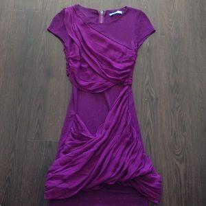 Alice + Olivia Dresses & Skirts - Alice and Olivia purple Ruffles dress xs