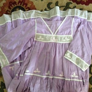 Vintage purple bell sleeve peasant maxi  dress