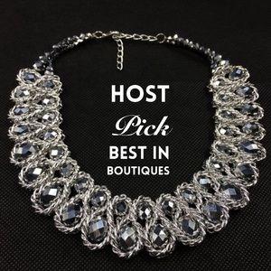Chunky Choker Crystal Statement Necklace