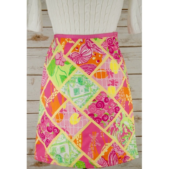 b4404797096743 Lilly Pulitzer Dresses & Skirts - Lilly Pulitzer Reversible Bella Giraffe  Wrap Skirt