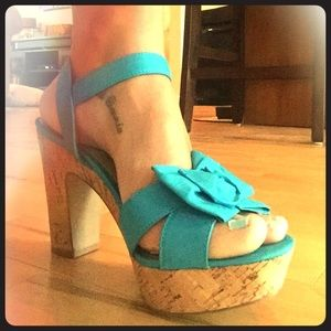 "Kelly & Katie Shoes - Turquoise 4"" Heels: Kelly & Katie"