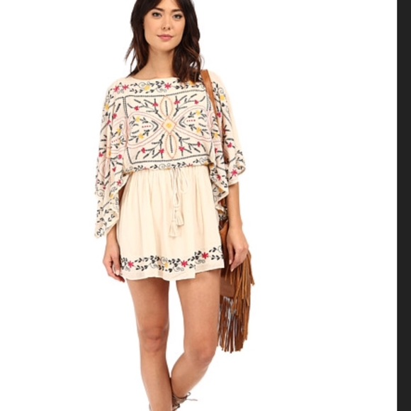 915499a0ab6 Free people Dresses   Skirts - Free people Friday batiste embroidered mini  dress