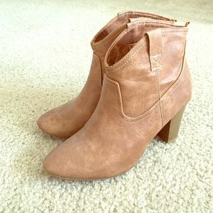 Old Navy Shoes - Brown Western Cowgirl Booties