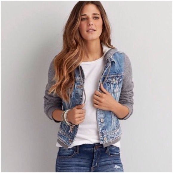 American Eagle Outfitters - AEO distressed jean jacket with ...
