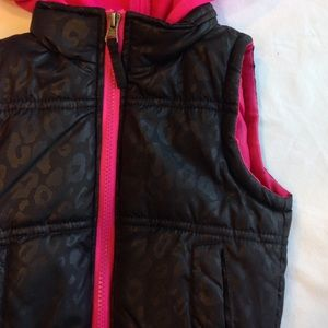 Pink Platinum Other - Puffer Vest with Hood