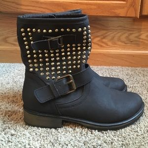 JustFab Studded Ankle Booties