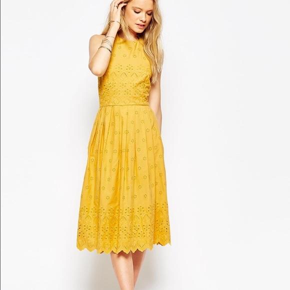 caf70480914 Asos Dresses   Skirts - Yellow halter sundress