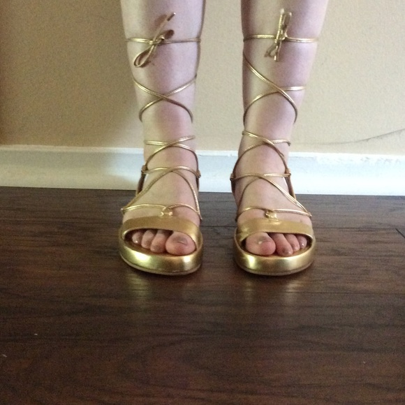 e479834714813 Diane von Furstenberg Shoes - Diane Von Furstenberg Susie gold gladiator  sandal
