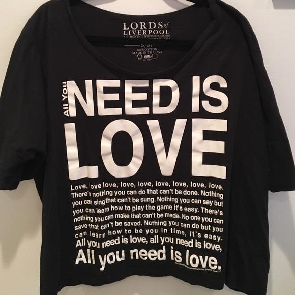 eeeb6436d The Beatles lyrics t-shirt - all you need is love.  M_57ba1bca7f0a05b8f50132e6